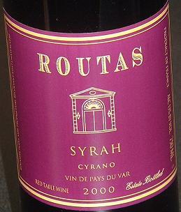 Routas Syrah 2000